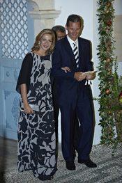 La Infanta Cristina e Iñaki Urdangarín en la boda de Nicolás de Grecia