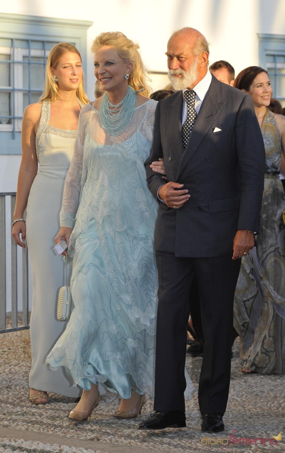 Los príncipes Michael y Marie Christine de Kent en la gran boda griega