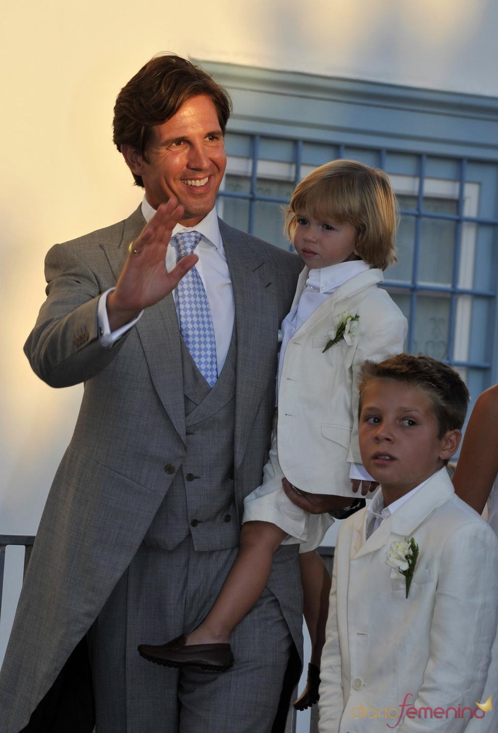 Pavlos de Grecia en la boda de Nicolás