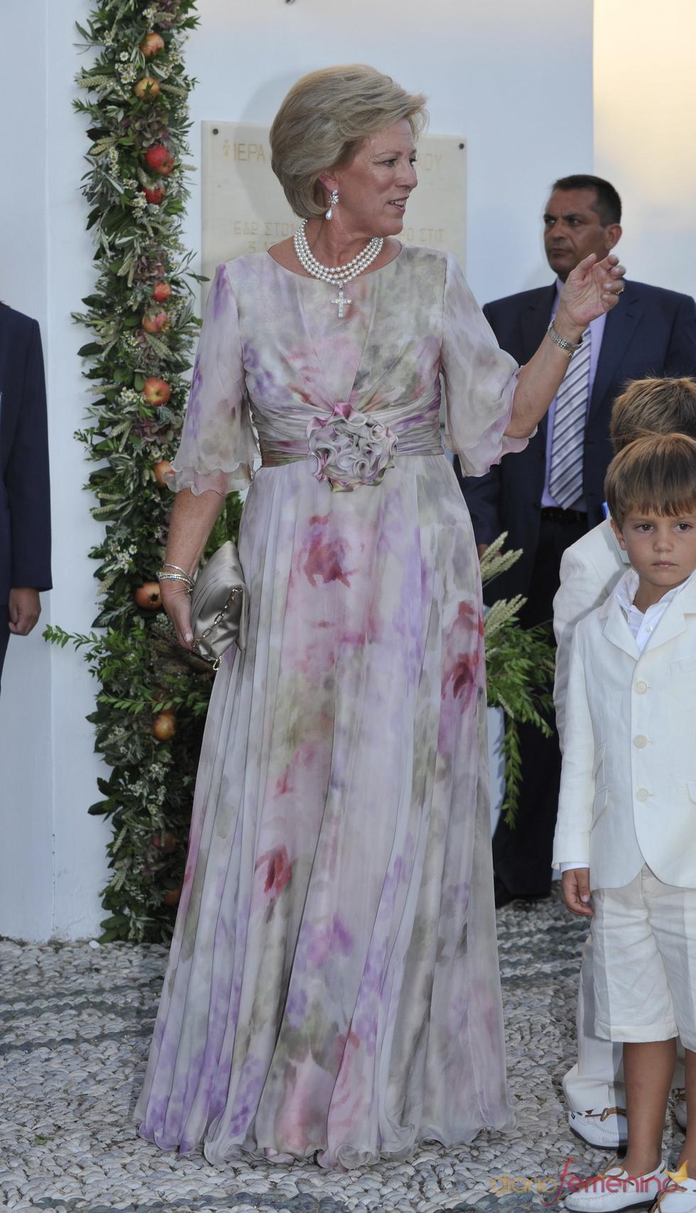 Ana María de Grecia en la boda de su hijo
