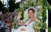 Tatiana Blatnik, radiante el día de su boda