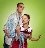 Los actores Dianna Agron y Mark Salling en la serie 'Glee'