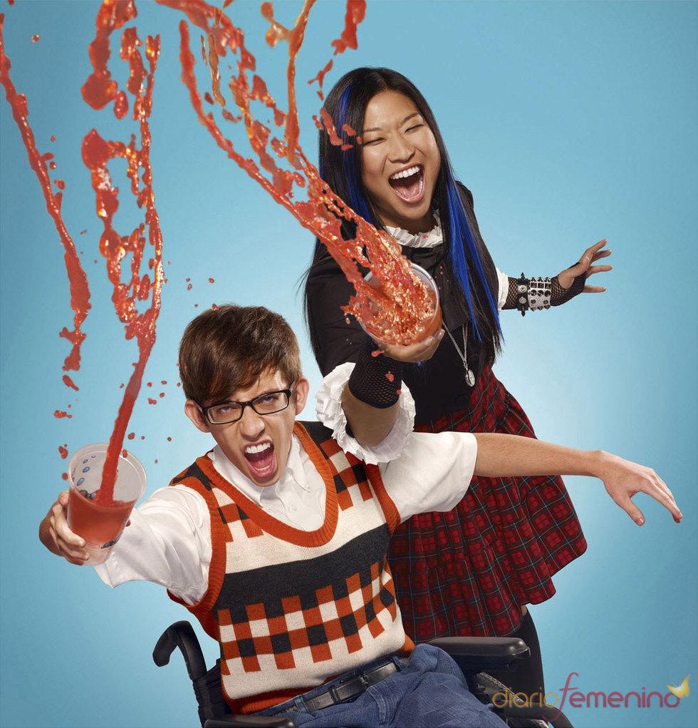 Kevin McHale y Jenna Ushkowitz  en la nueva temporada de 'Glee'