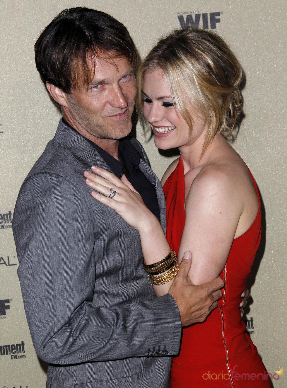 Anna Paquin y Stephen Moyer en la fiesta previa de los Premios Emmy 2010