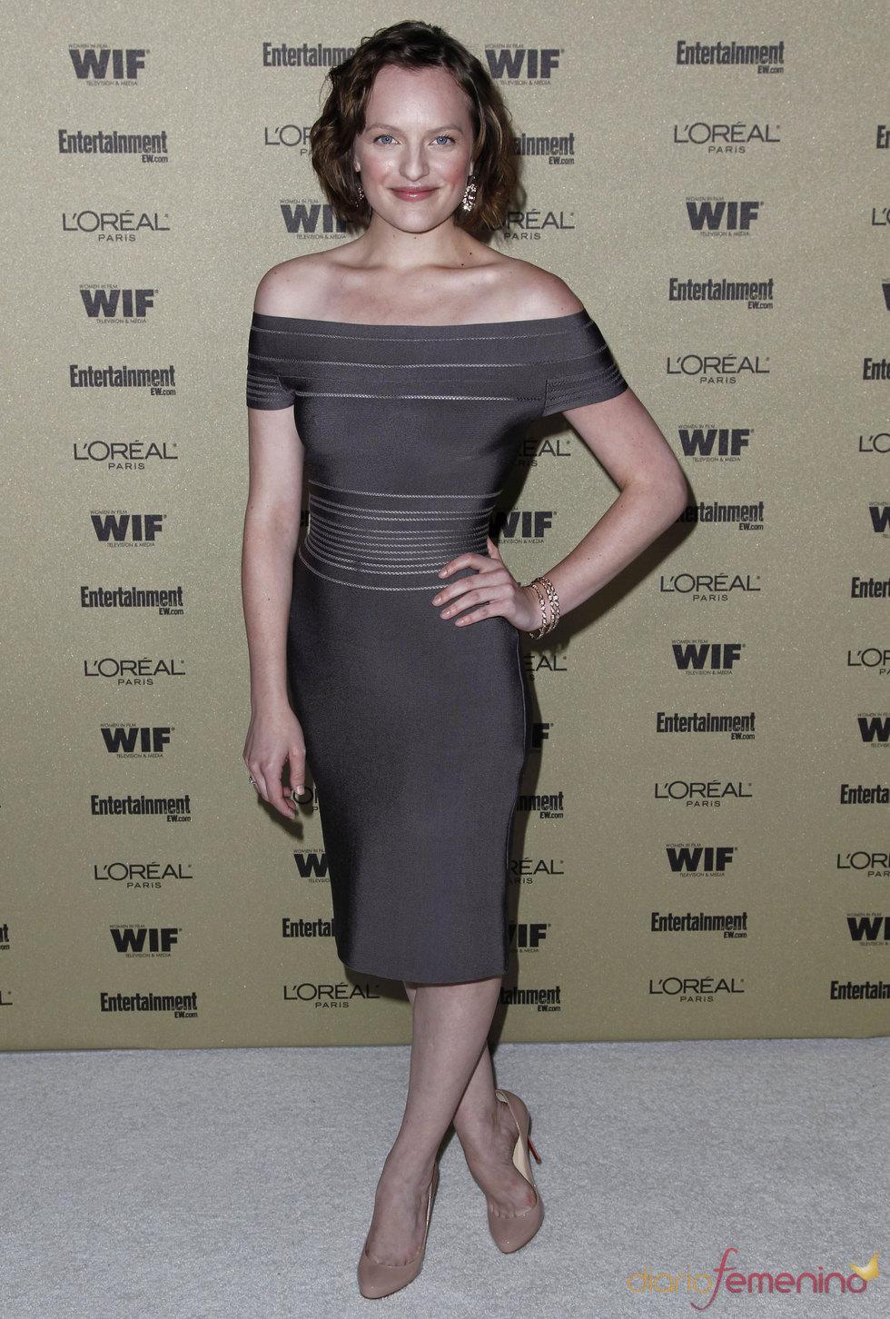 Elisabeth Moss de 'Mad Men' en la fiesta previa de los Premios Emmy 2010