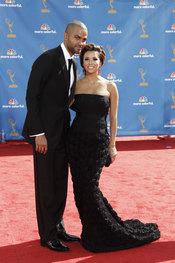 Eva Longoria y Tony Parker en los premios Emmy 2010