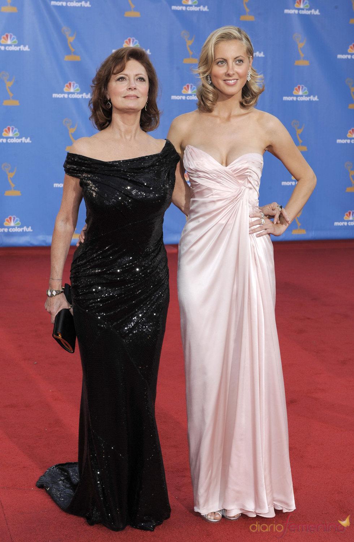 Susan Sarandon y Eva Amurri en los Premios Emmy 2010
