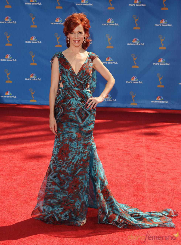 Carrie Preston en los premios Emmy 2010