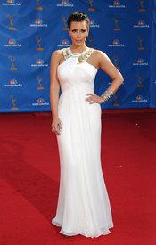 Kim Kardashian, ex de Cristiano Ronaldo, en los Premios Emmy 2010
