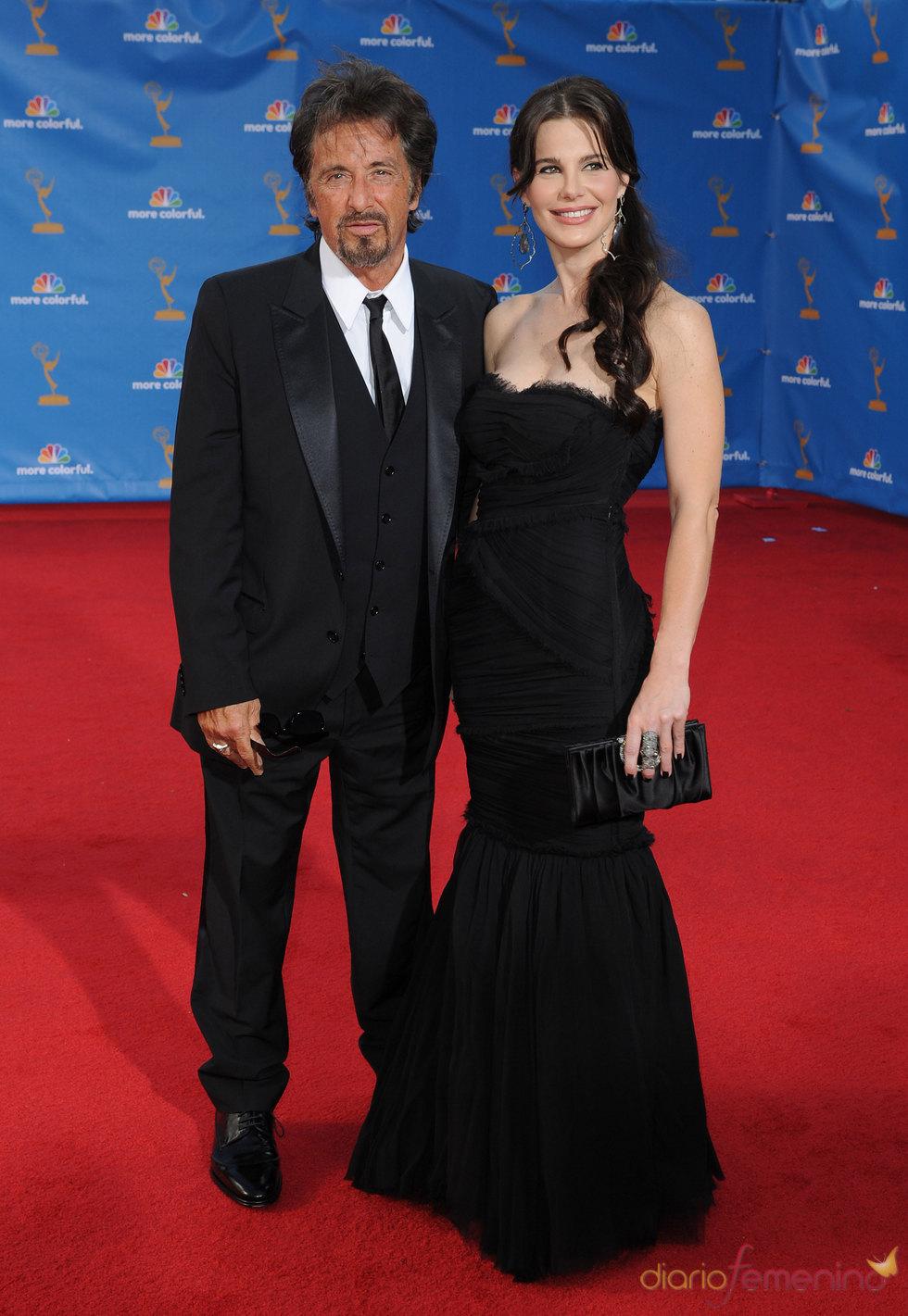 Al Pacino y Lucila Sola en los Premios Emmy 2010