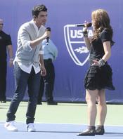 Demi Lovato y Joe Jonas en el Arthur Ashe Kids Day