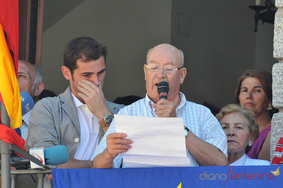 Iker Casillas llora en Navalacruz