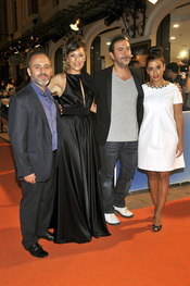 Los actores de 'Aguile Roja' en Vitoria