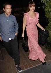 Christina Ricci con vestido estilo 'mantel'