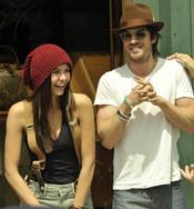 Ian Somerhalder con su novia Nina Dobrev