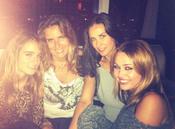 Miley Cyrus y Demi Moore, juntas y sonrientes