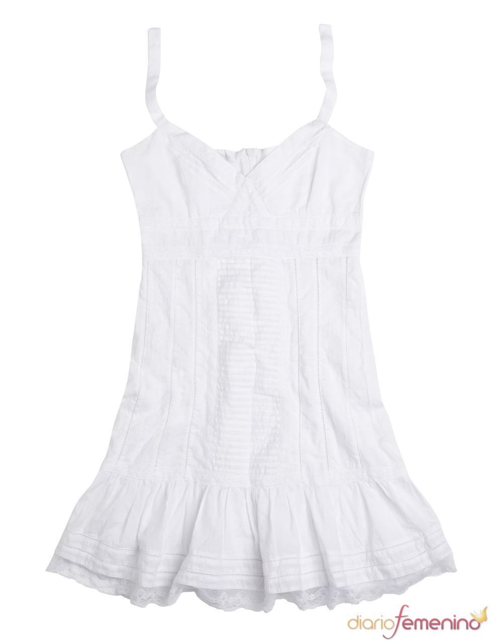 Vestido blanco para el otoño-invierno