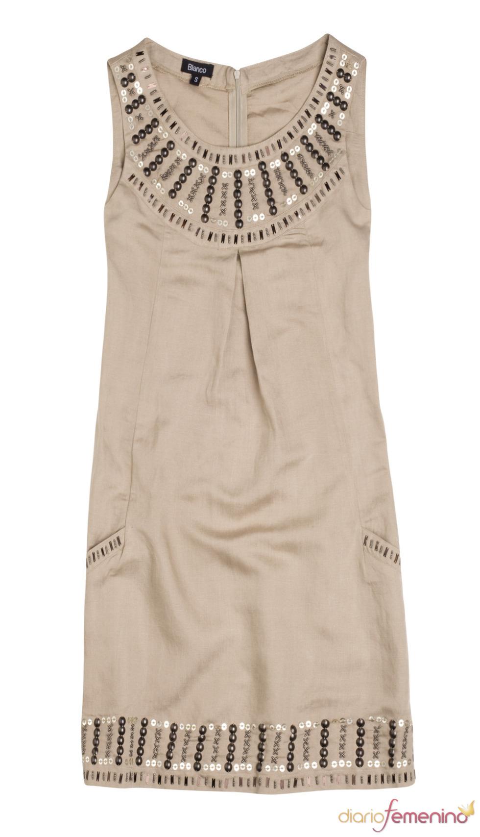 Vestido marrón claro de Blanco