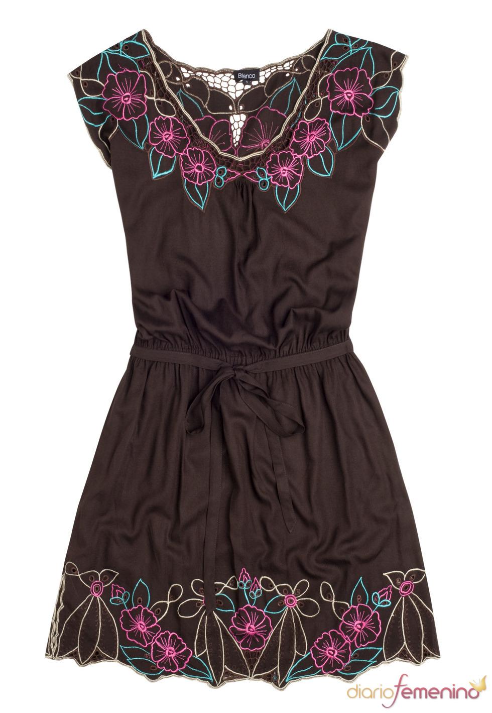 Vestido marrón oscuro de Blanco