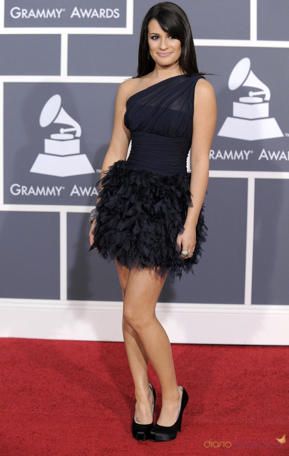Lea Michele de Glee en los Grammy