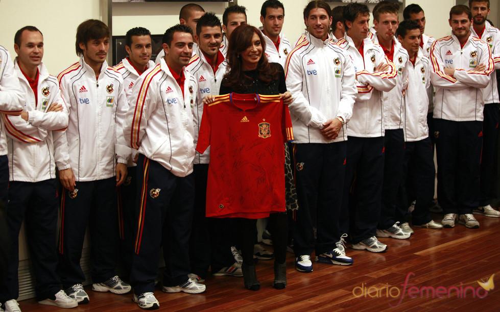 La Selección espñaola en Argentina