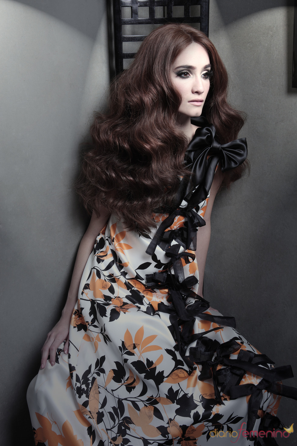 Vestido floreado de Eugenio Loarce