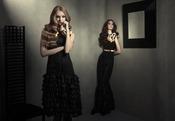 Vestidos negros de Eugenio Loarce