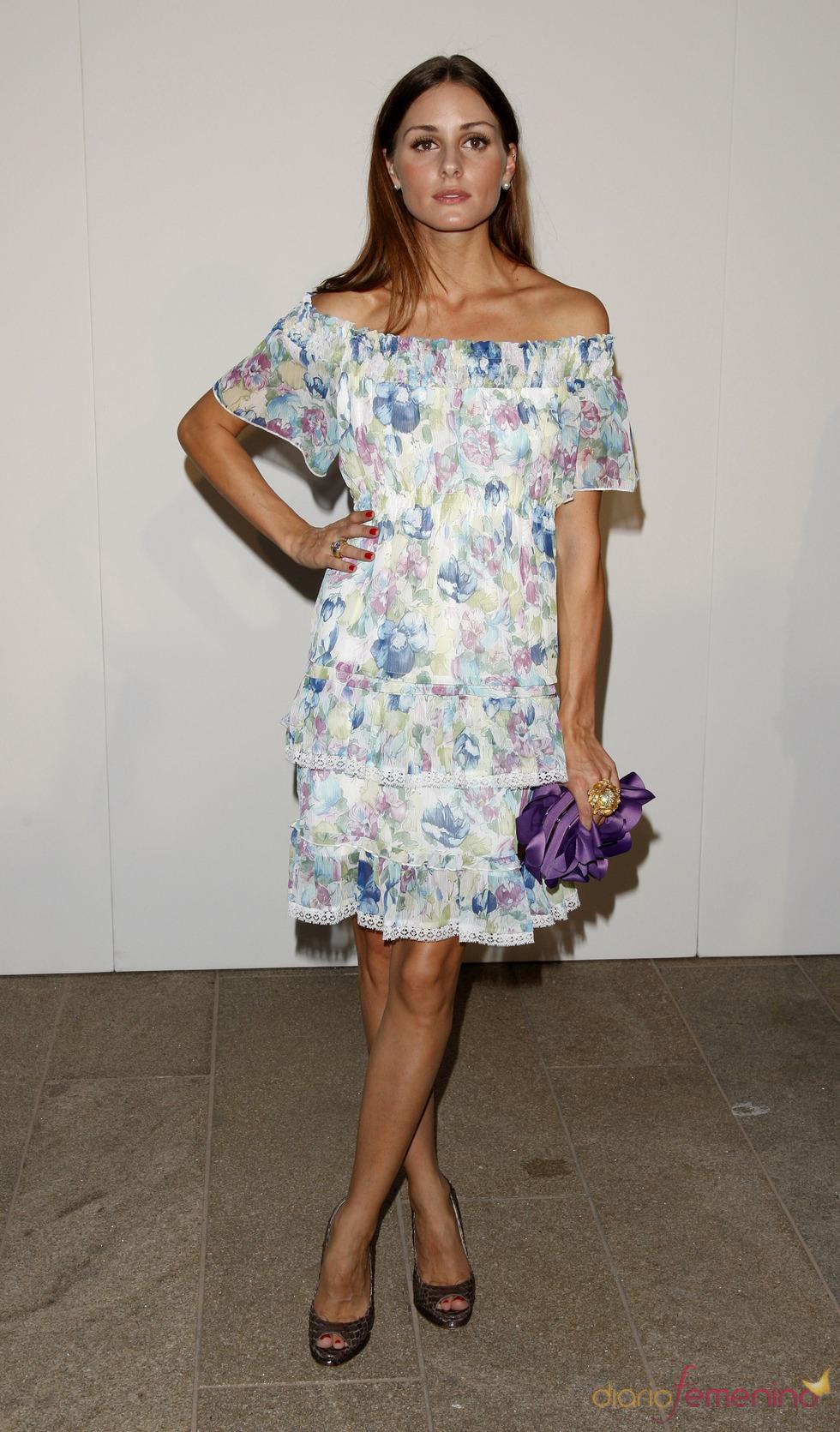 Olivia Palermo con look floreado