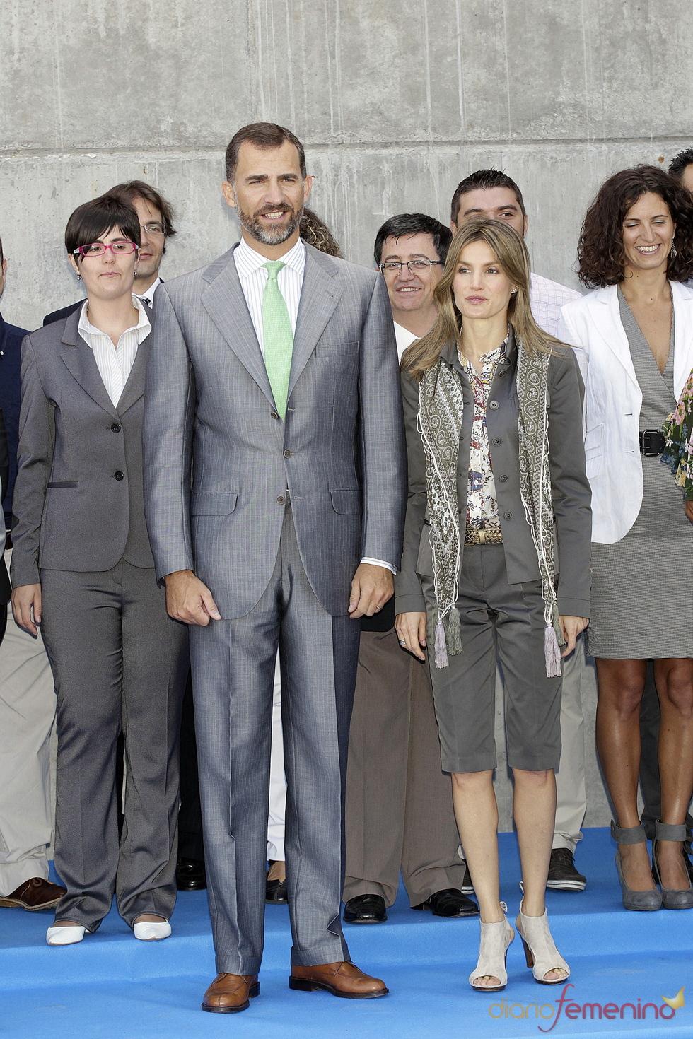 Doña Letizia con bermudas y zapatos de tacón