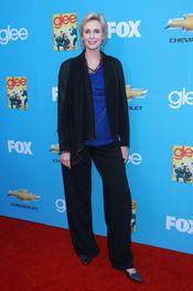 Jane Lynch en el estreno de la segunda temporada de 'Glee'