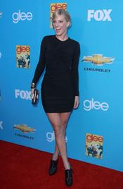 Heather Morris en el estreno de 'Glee'