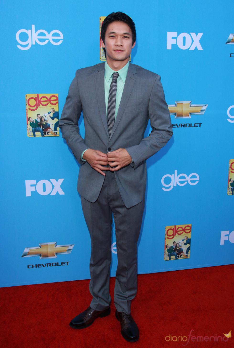 Harry Shum Jr. en la premiere de 'Glee'