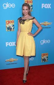 Dianna Agron en el estreno de 'Glee'