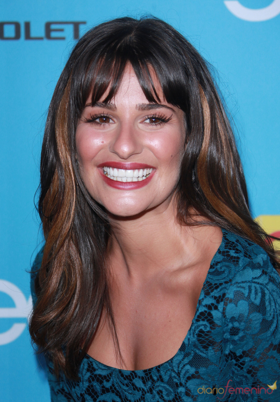 Lea Michele, radiante en el estreno de 'Glee'