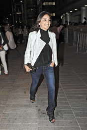 Mónica Carrillo en el concierto de Alejandro Sanz