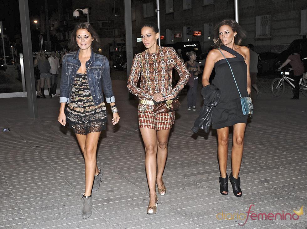 María José Suárez, Eva González y Raquel Rodríguez, fans de Alejandro Sanz