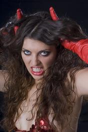 Labios rojo pasión en Halloween