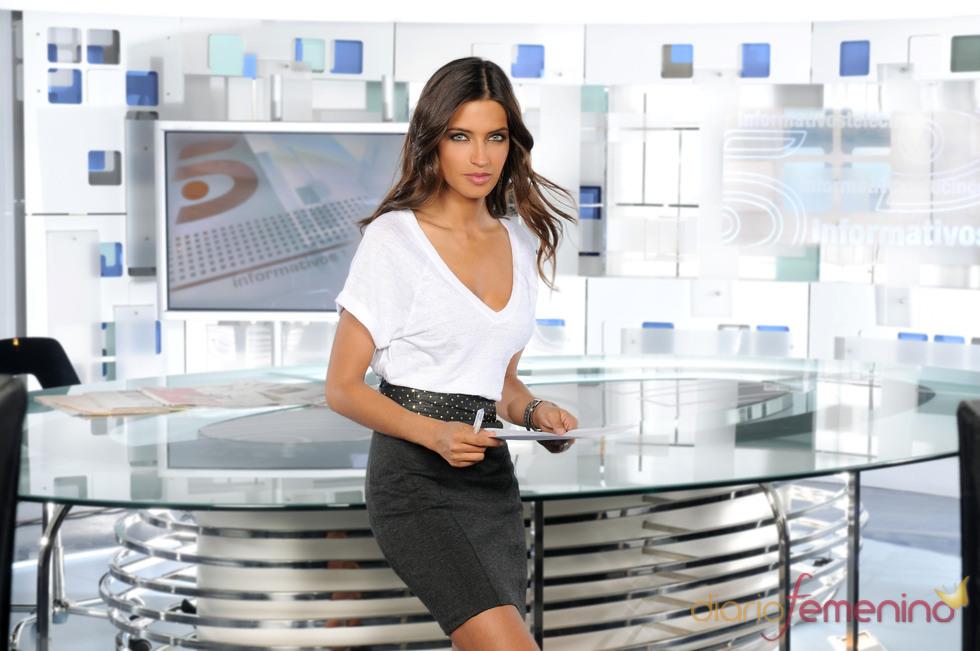 Sara Carbonero en Informativos Telecinco