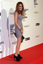 Carme Chaparro en la fiesta de Vogue en Madrid