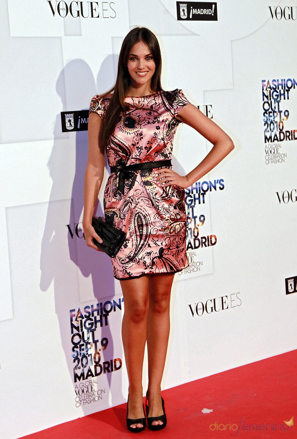 Helen Lindes en la 'Vogue Fashion Night Out' en Madrid