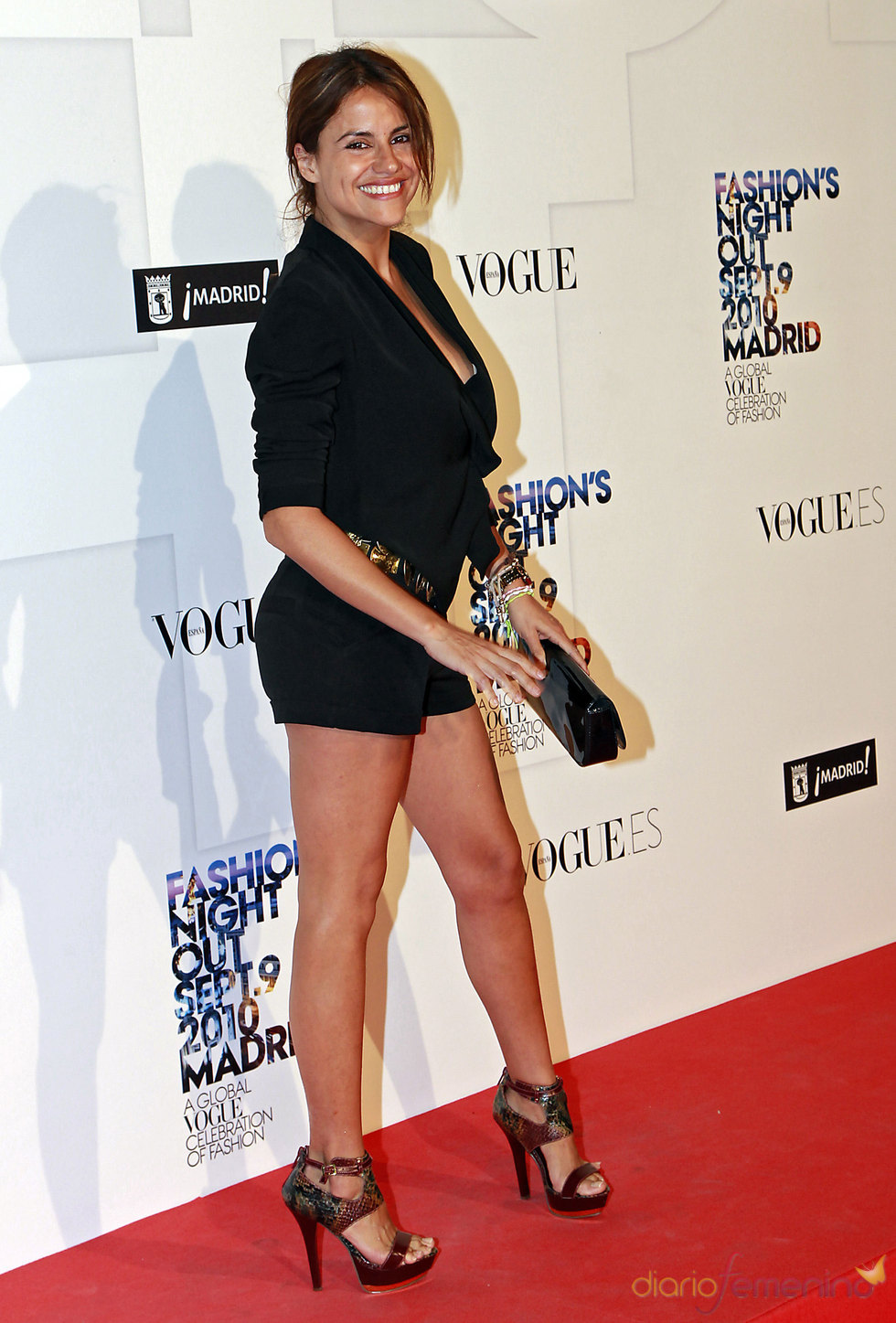 Mónica Hoyos en la 'Vogue Fashion Night Out'