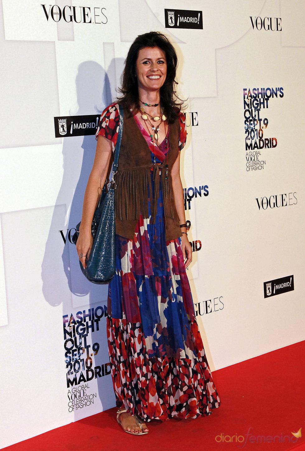 Nuria March en la 'Vogue Fashion Night Out'