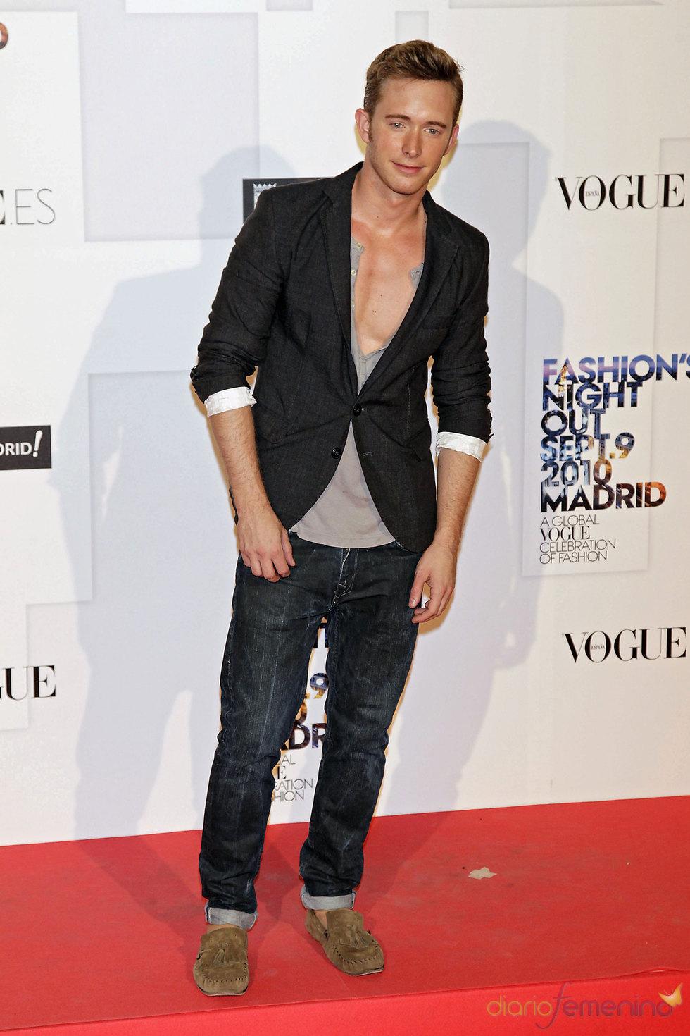 Pablo Rivero en la fiesta de Vogue en Madrid