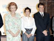 Antonio Banderas con la Reina Sofía