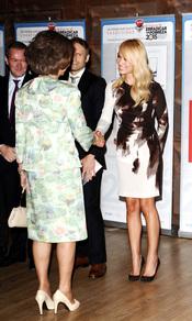 Patricia Conde con la Reina Sofía