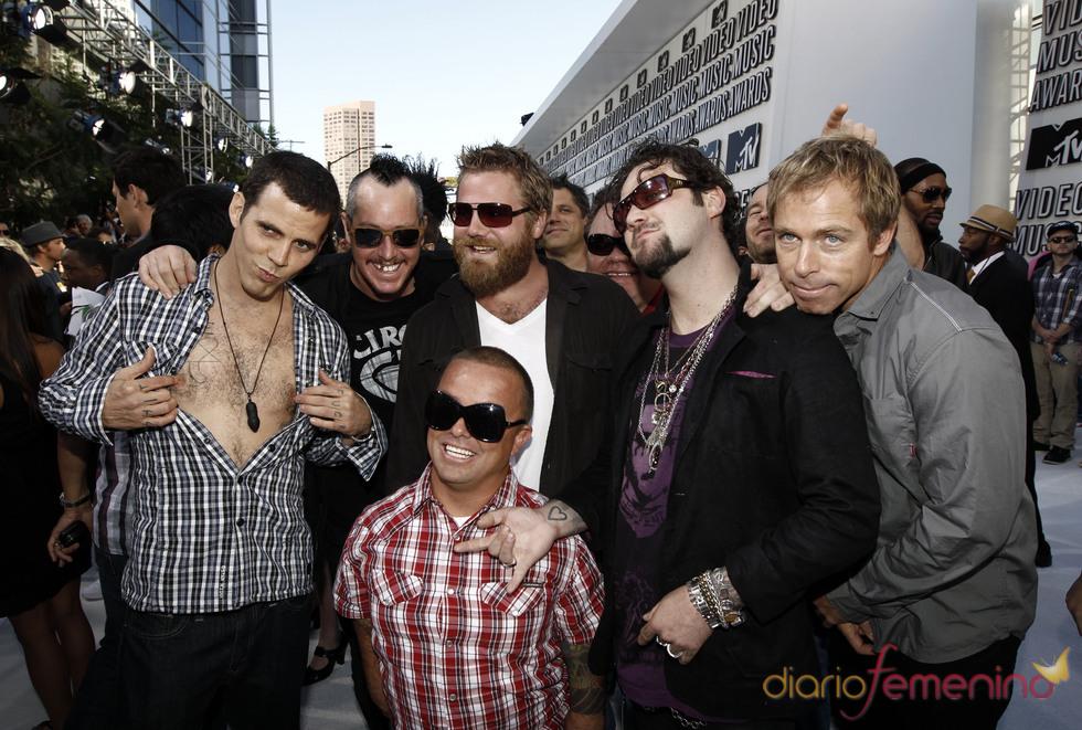 El equipo de 'Jack Ass' en los MTV Video Music Awards 2010