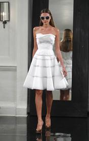 Vestido blanco de Victoria Beckham