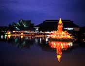 Espectáculo de luz y color en Tailandia