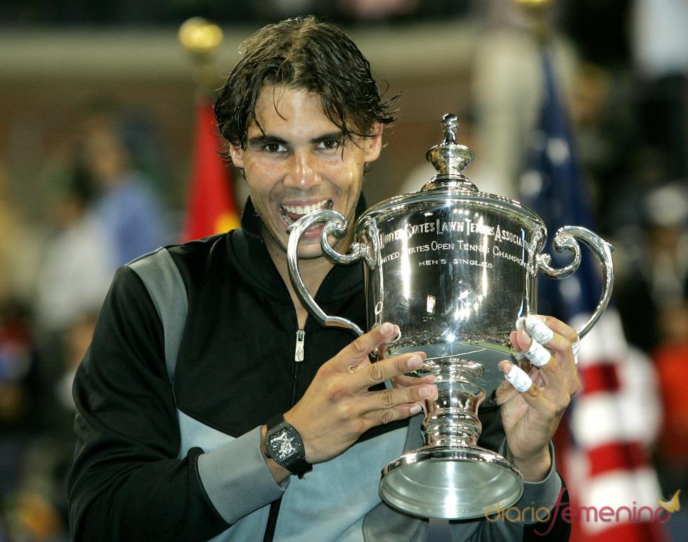 Rafa Nadal con el trofeo del US Open