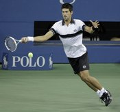 Novak Djokovic en la final del Open USA